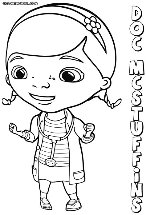 doc mcstuffins color page az coloring pages sketch