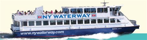 ny waterway boat show fares routes schedules