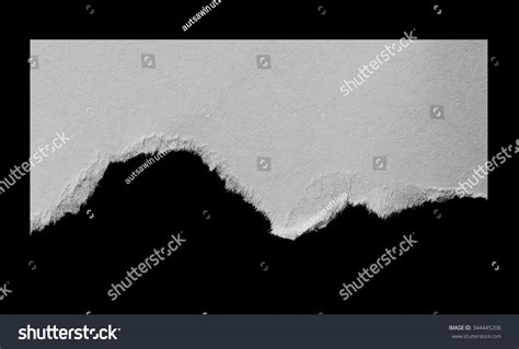 Black And Space Essay by Ripped Black White Paper Copy Space Stock Photo 344445206