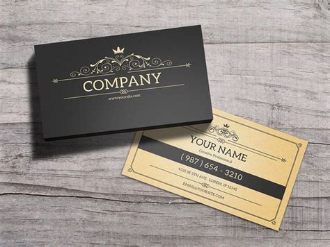 Vintage Name Card Template by 35 European Business Card Templates Psd Mockup