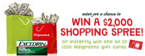 Walgreens Sweepstakes - walgreens excedrin 174 holiday sweepstakes win 2 000
