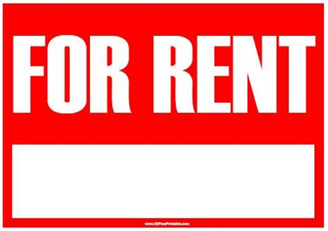 to let sign template for rent images cliparts co