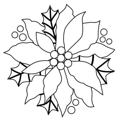 coloring page christmas flower free christmas flower color coloring pages