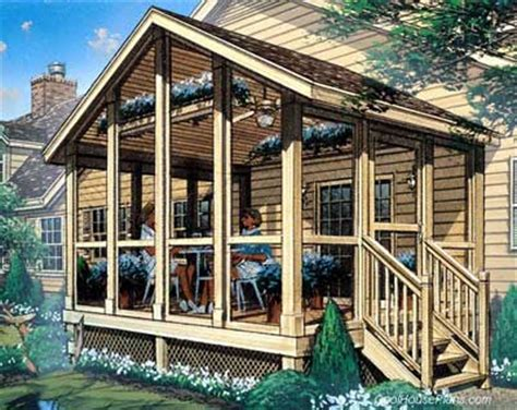 Screened In Porch Plans To Build Or Modify House Plans With Screened In Porch
