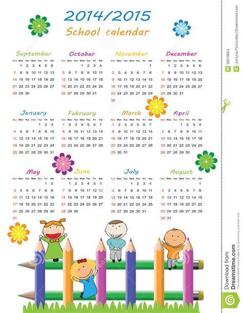 Calendario De La Escuela Calendario 2014 2015 De La Escuela Imagenes De Archivo