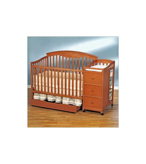 Simplicity Crib by Simplicity Crib N Changer Combo In Pecan Finish
