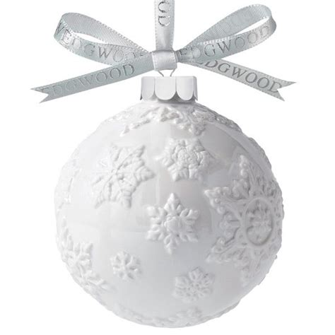 2012 wedgwood white snowflake ball porcelain ornament