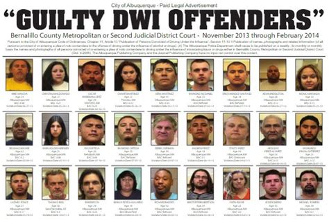 Dwi Records Dwi Convictions Albuquerque Journal