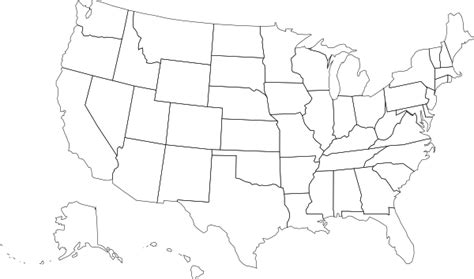 us map outline states blank us map blank outlines clip at clker vector clip