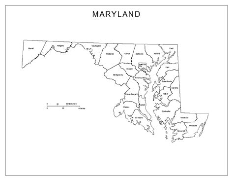 maryland map blank maryland labeled map
