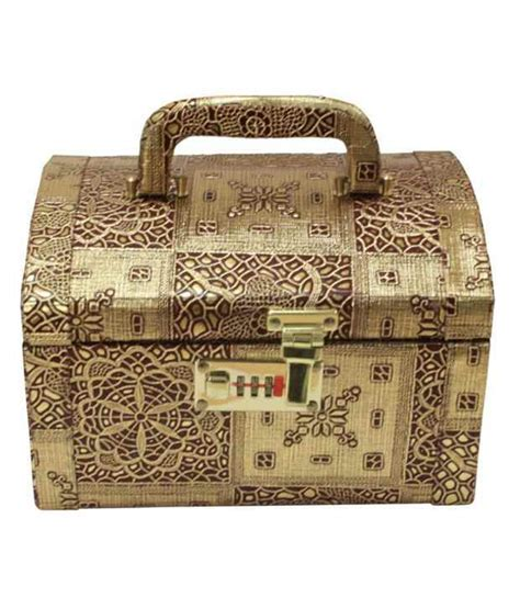 Vanity Box Price by Buy Bags Unlimited Golden Vanity Box At Best Prices In