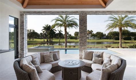 covered lanai contemporary house plan with photos 1 story southern coastal pool