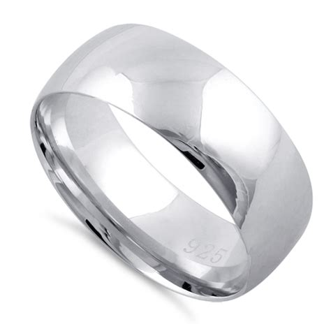 Wedding Band Silver by Sterling Silver Wedding Band 7mm
