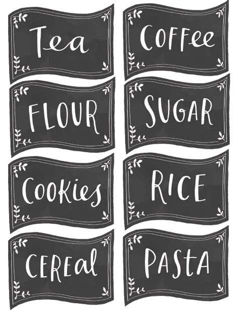 printable kitchen labels free 10 pretty and organized pantries