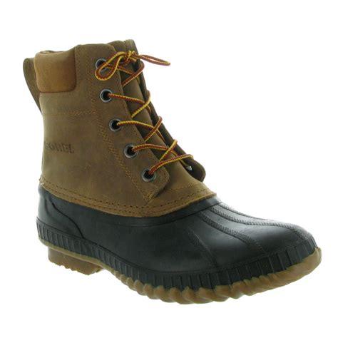 sorel mens boots sorel s cheyanne lace grain duck boot mens boots