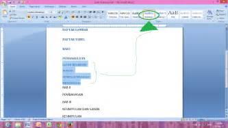 membuat daftar gambar dan tabel di word cara membuat daftar isi otomatis daftar gambar daftar