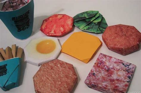How To Make A Paper Hamburger - burger origami
