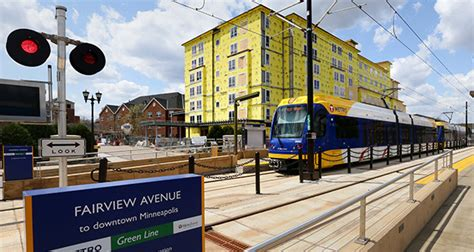 Minneapolis Light Rail Green Line by Tracking Development Along The Green Line Finance Commerce