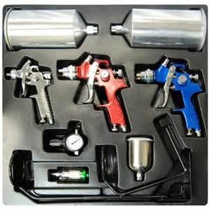 Auto Paint Cheap Kits 10 Pc Set 3 Hvlp Spray Gun Kit Auto Paint Primer Topcoat