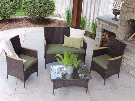 Modern Black Wicker Outdoor Furnitures Patio Furniture Outdoor Patio Furniture Canada