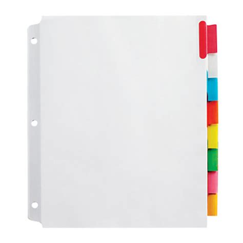 office depot divider templates office depot brand insertable wide dividers with big