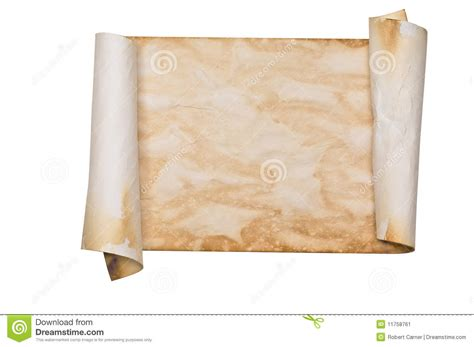 How To Make Paper Look Like A Scroll - ancient parchment scroll stock image image of burnt