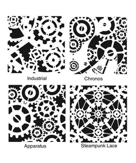 printable gear stencils steunk stencils steunk series who doesn t love
