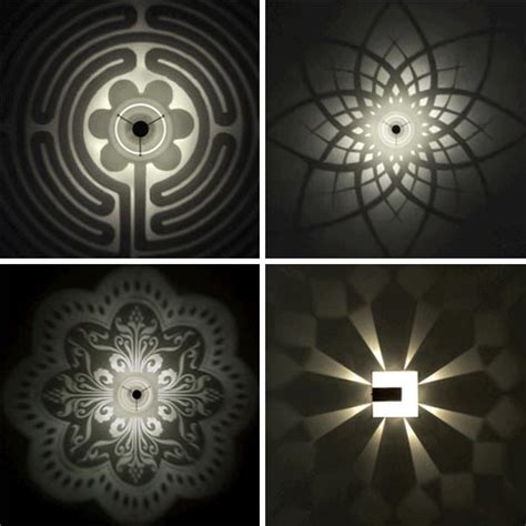 Pattern Light Fixture Designs Cast Stunning Wall Shadows