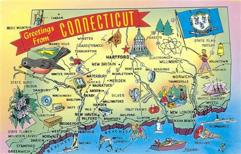 where is connecticut on the map connecticut state map images