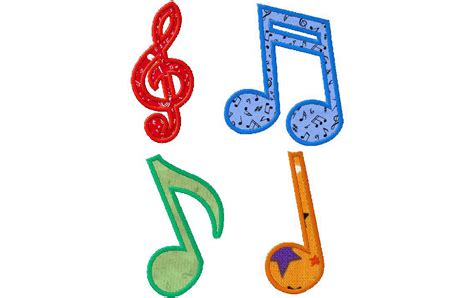 free applique design musical notes free machine applique designs daily embroidery