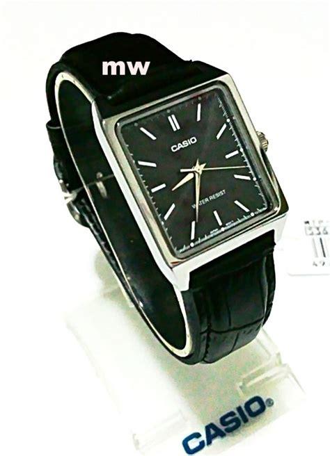 Casio Mtp Ltp V002 List Silver new casio mtp v007l 1e mens black leather square modern