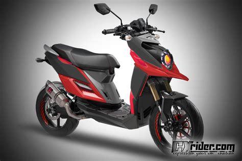 Shockbreaker Ride It Untuk Mio konsep modifikasi yamaha x ride ttx cxrider