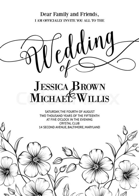 wedding invite sle text awesome wedding invitation with generic text for your