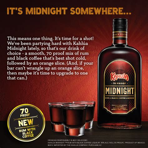 kahlua midnight rum with black coffee the rum trader