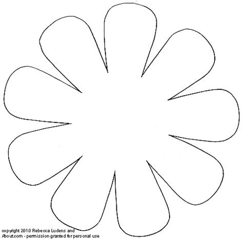daisy flower printable template mike folkerth king of