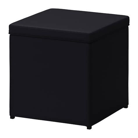 puff sofa ikea bosn 196 s footstool with storage ransta black ikea