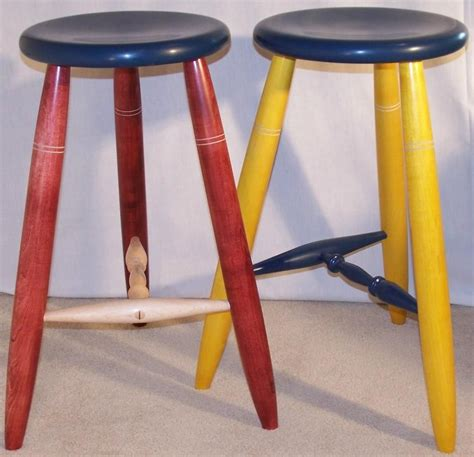 Three Legged C Stool by Stained Three Legged Stools 3 Legs Stool