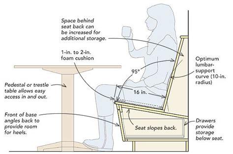 bench back angle comfortable dining nooks fine homebuilding