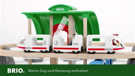 brio subway train brio metro city train set 33514 deutsch youtube