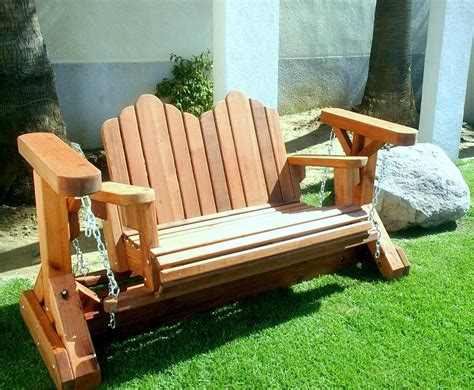 wooden rocking bench wood glider rocker plans adirondack glider chair plans