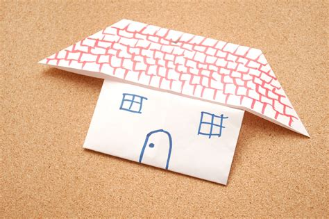How To Make Paper Houses - how to make an origami house 7 steps with pictures
