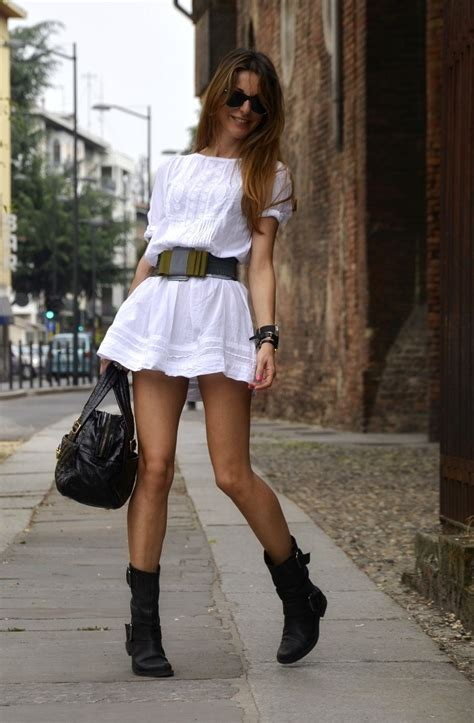 white biker boots what to wear with biker boots aelida