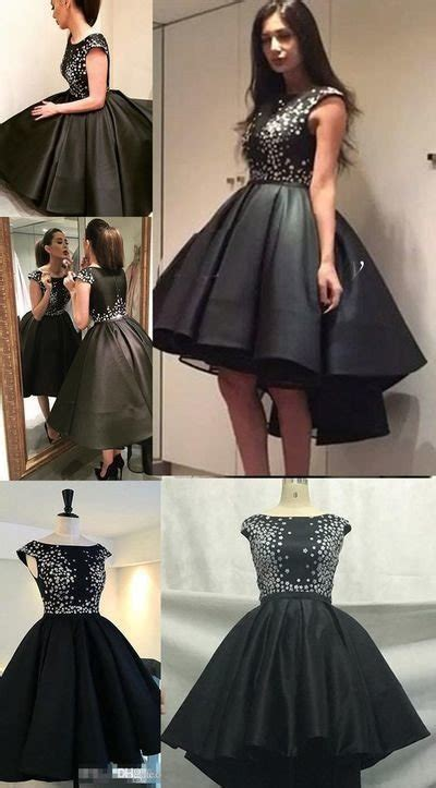 cute sparkly black homecoming dresses prom dress  teens