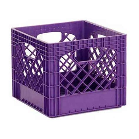 plastic crate purple plastic milk crates dairy crate wholesale stacking crates