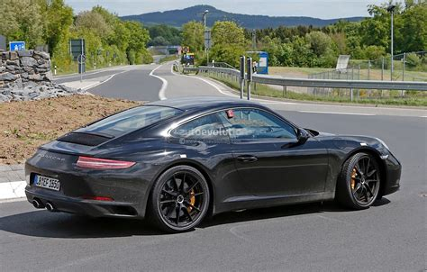 porsche facelift new porsche 911 facelift spied on the nurburgring and in