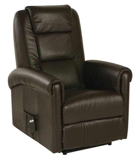 electric leather recliner relaxateeze cortina electric recliner chair cream brown