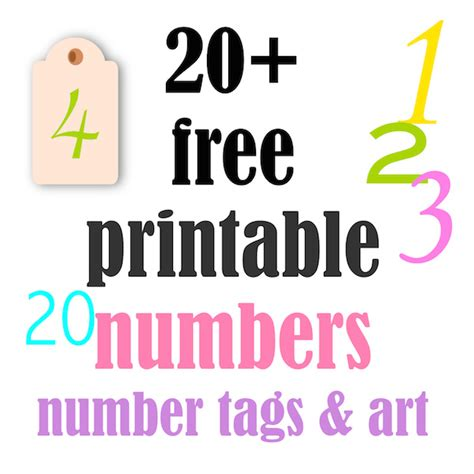 20 free printable number tags and posters ausdruckbare