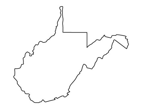 West Virginia State Outline Vector by 25 Best Ideas About West Virginia On Nebraska And