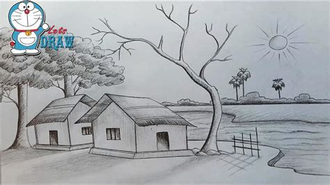 sketchbook how to draw scenery sketch pencil how to draw scenery of light and