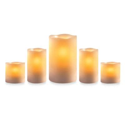 bed bath and beyond candles buy loft living flameless pillar candles with remote set